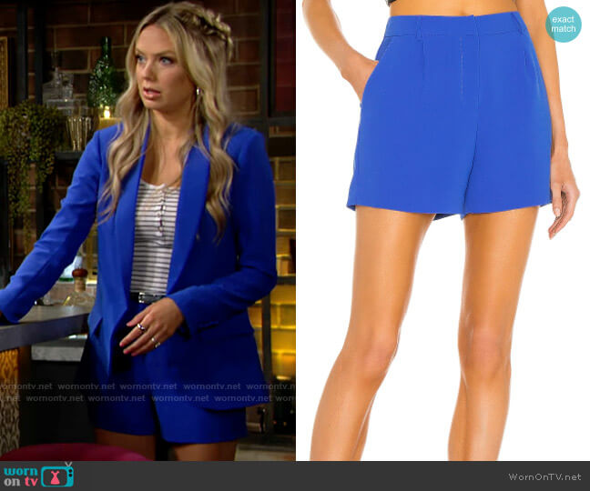 Amanda Uprichard Wallace Shorts worn by Abby Newman (Melissa Ordway) on The Young & the Restless