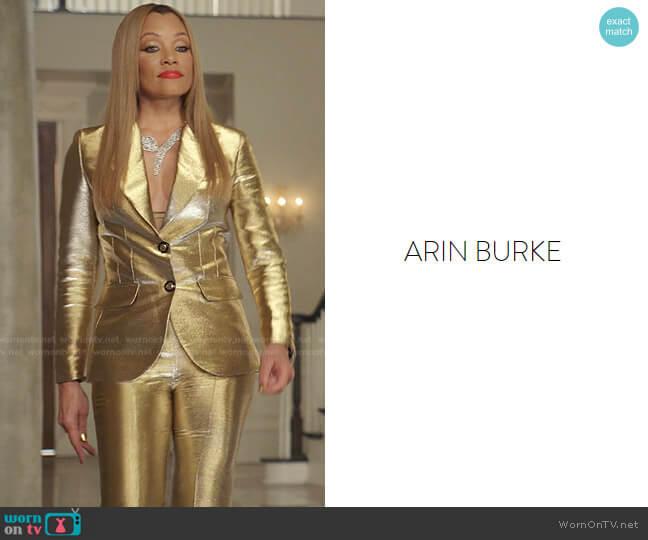 Custom designed by costume designer Arin Burke worn by Dominique Deveraux (Michael Michele) on Dynasty