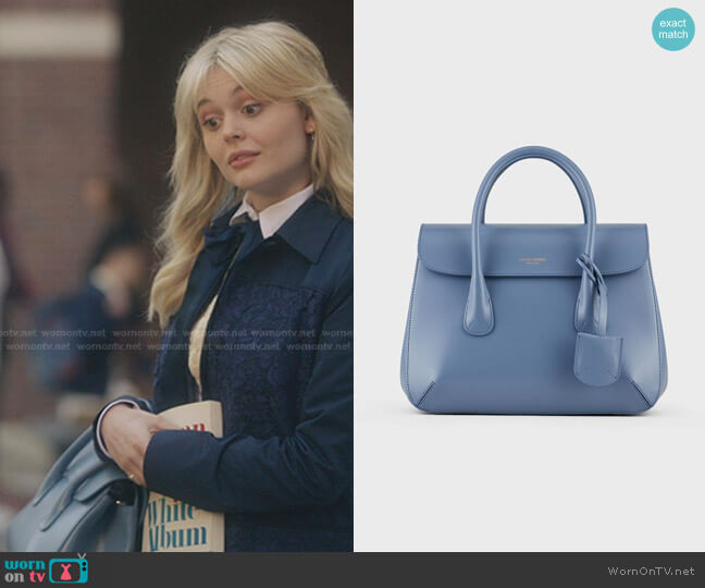 Small Hand-Finished Calfskin La Prima Bag by Giorgio Armani worn by Audrey Hope (Emily Alyn Lind) on Gossip Girl