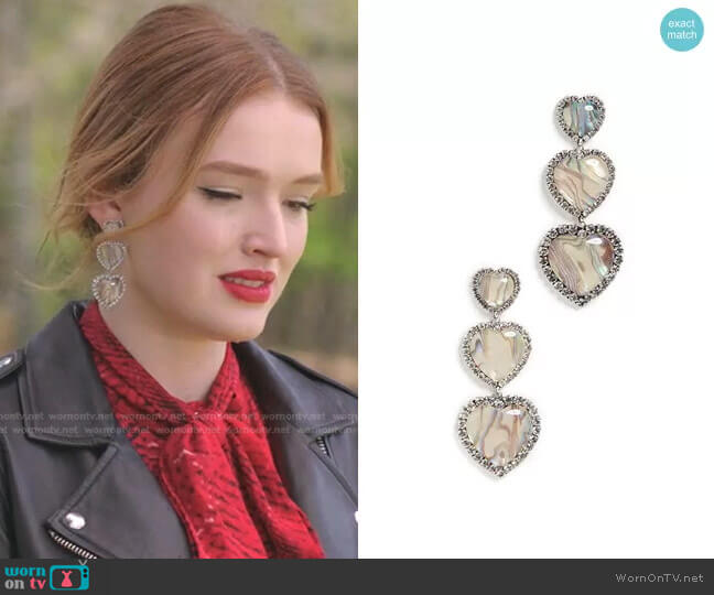 Tate Earrings by Dannijo worn by Kirby Anders (Maddison Brown) on Dynasty