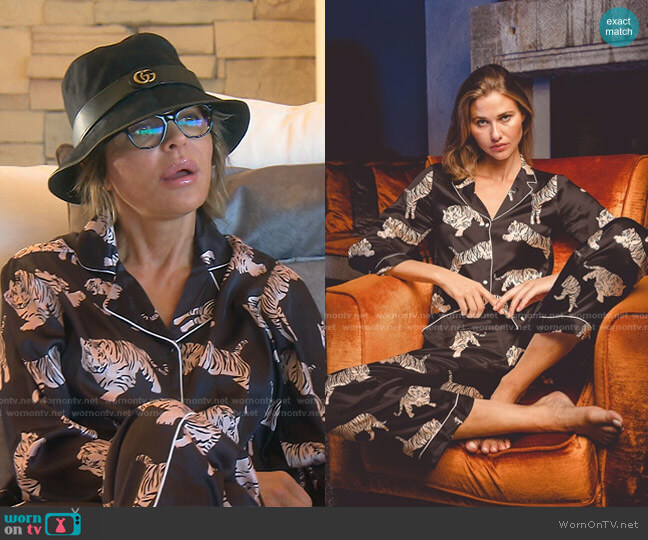Sierra Pajama by Averie worn by Lisa Rinna  on The Real Housewives of Beverly Hills