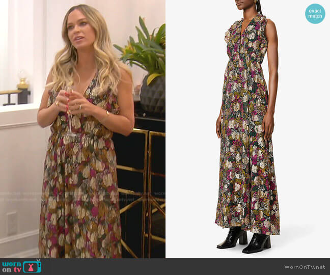 Leo Dress by Ba&Sh worn by Teddi Mellencamp Arroyave  on The Real Housewives of Beverly Hills