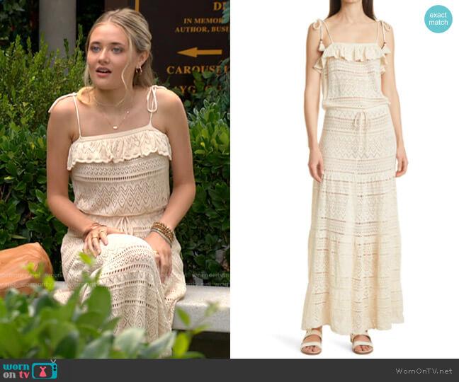 ba&sh Cal Dress worn by Faith Newman (Reylynn Caster) on The Young & the Restless
