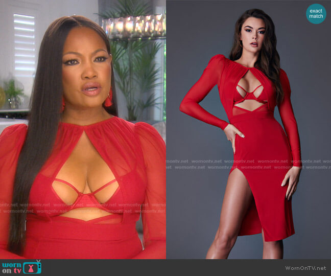Bella Dress by Bao Tranchi worn by Garcelle Beauvais  on The Real Housewives of Beverly Hills