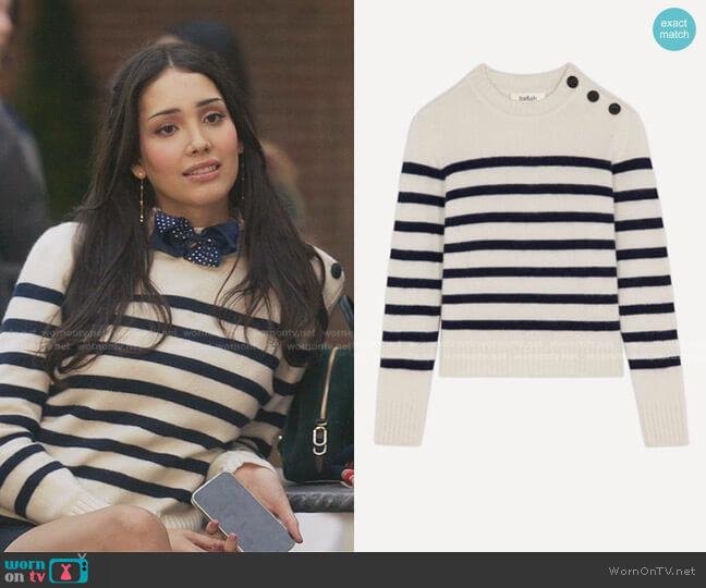 Sean Sailor Sweater by Ba&Sh worn by Luna La (Zión Moreno) on Gossip Girl