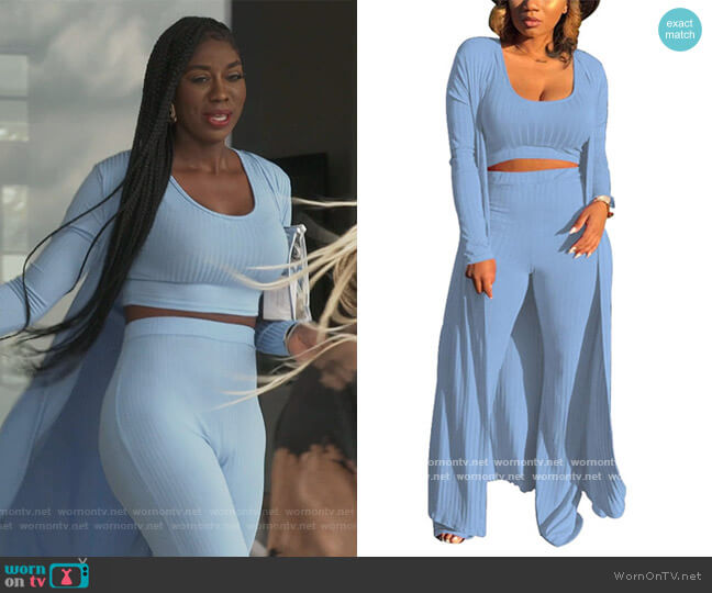 Open Cardigan and Tank Top by BBPawning Store worn by Wendy Osefo  on The Real Housewives of Potomac