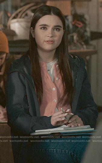 Bella's pink cardigan on The Republic of Sarah