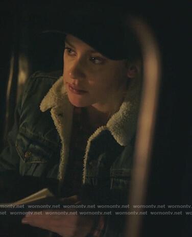 Betty's denim shearling jacket on Riverdale