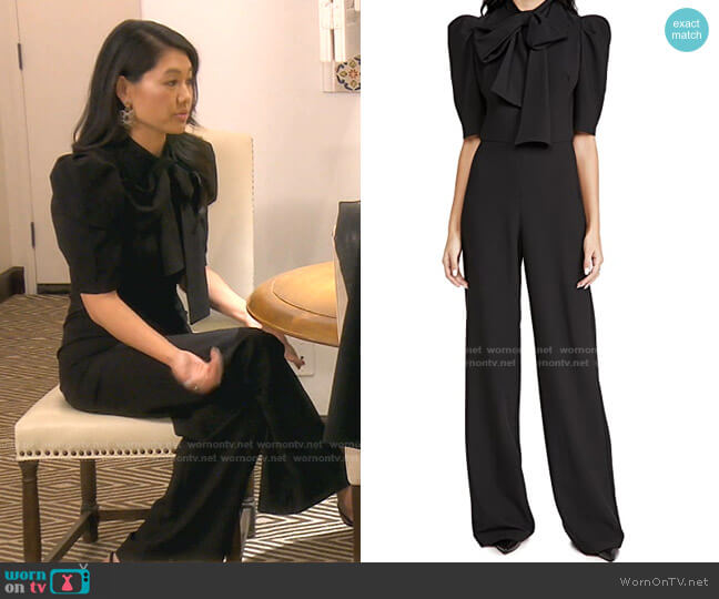 Ara Jumpsuit by Black Halo worn by Crystal Kung Minkoff  on The Real Housewives of Beverly Hills