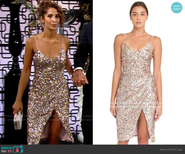 Black HAlo Bowery Funfetti Dress worn by Lily Winters (Christel Khalil) on The Young & the Restless