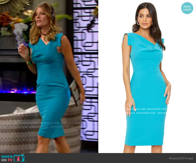 Black Halo Jackie O Dress in Cozumel worn by Phyllis Summers (Michelle Stafford) on The Young & the Restless