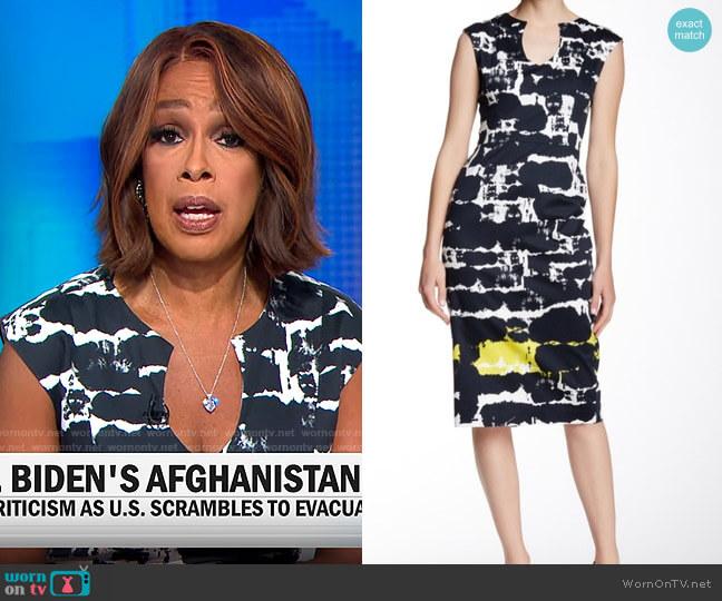 Black Halo Jazelle Dress worn by Gayle King  on CBS Mornings