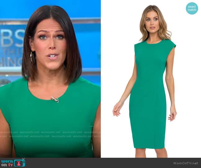 Black Halo Samoa Sheath worn by Dana Jacobson  on CBS Mornings