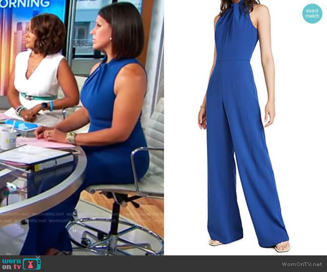 Black Halo Zana Jumpsuit worn by Dana Jacobson  on CBS Mornings