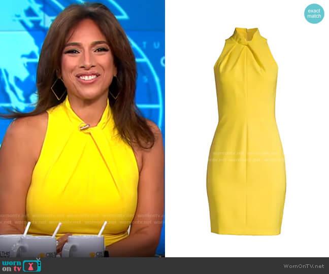 Black Halo Zana Sheath worn by Michelle Miller  on CBS Mornings