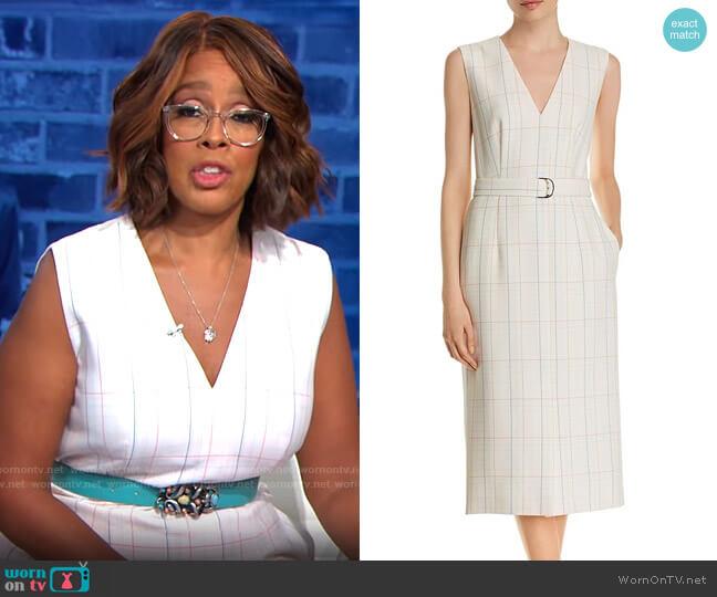 BOSS Dalyris Dress worn by Gayle King  on CBS Mornings