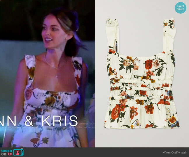Brock Collection Silvia Top worn by Kaitlynn Carter  on The Hills New Beginnings