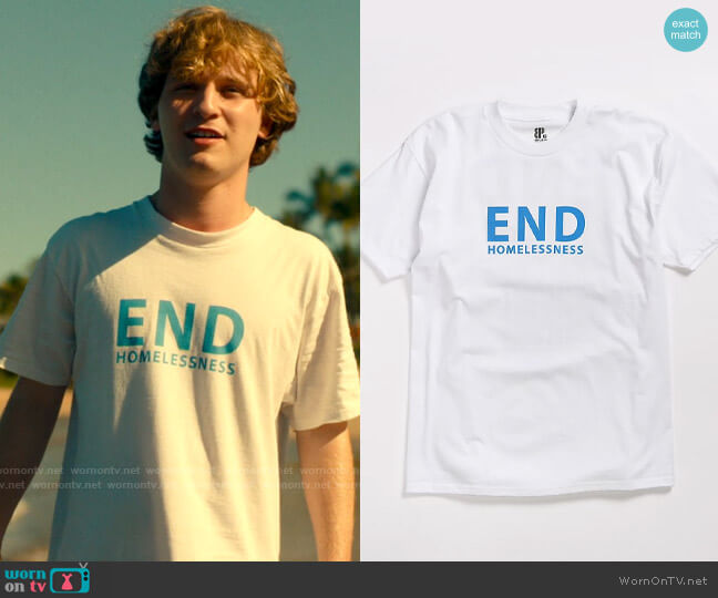 Brooklyn Projects End Homelessness T-shirt worn by Quinn Mossbacher (Fred Hechinger) on The White Lotus