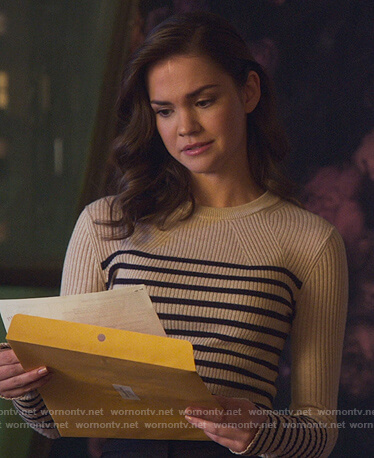 Callie's stripe ribbed sweater on Good Trouble