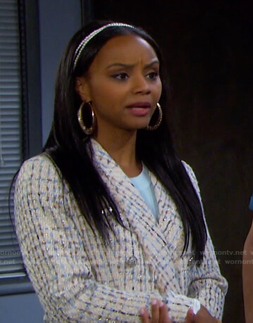 Chanel's white tweed blazer on Days of our Lives