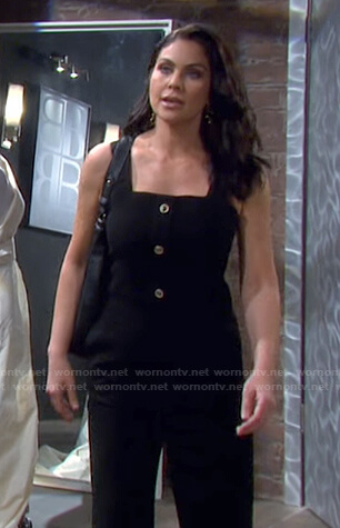 Chloe's button detail jumpsuit on Days of our Lives