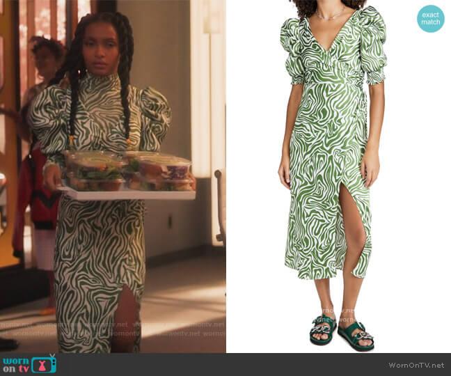Kacy Dress by Cinq a Sept worn by Zoey Johnson (Yara Shahidi) on Grown-ish