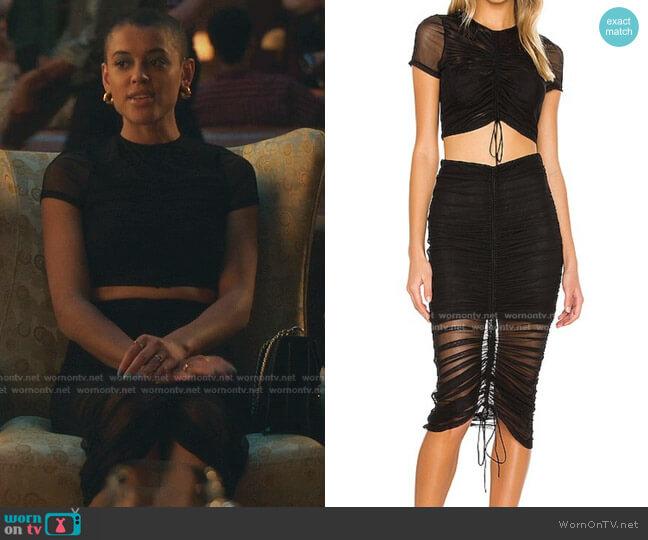 Arlen Top and Skirt by Cinq a Sept worn by Julien Calloway (Jordan Alexander) on Gossip Girl