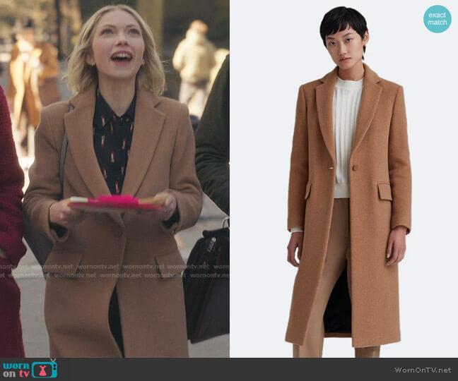 Slim Tailored Coat by Club Monaco worn by Kate Keller (Tavi Gevinson) on Gossip Girl