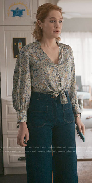 Corrine's cropped patch pocket jeans on The Republic of Sarah