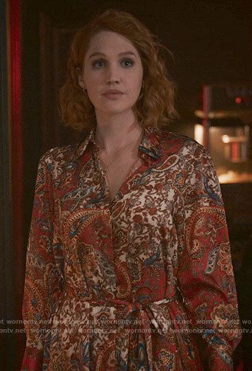 Corinne's paisley shirtdress on The Republic of Sarah
