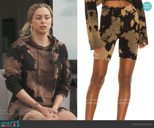 Milan Biker Short by Cotton Citizen worn by Robyn Dixon  on The Real Housewives of Potomac