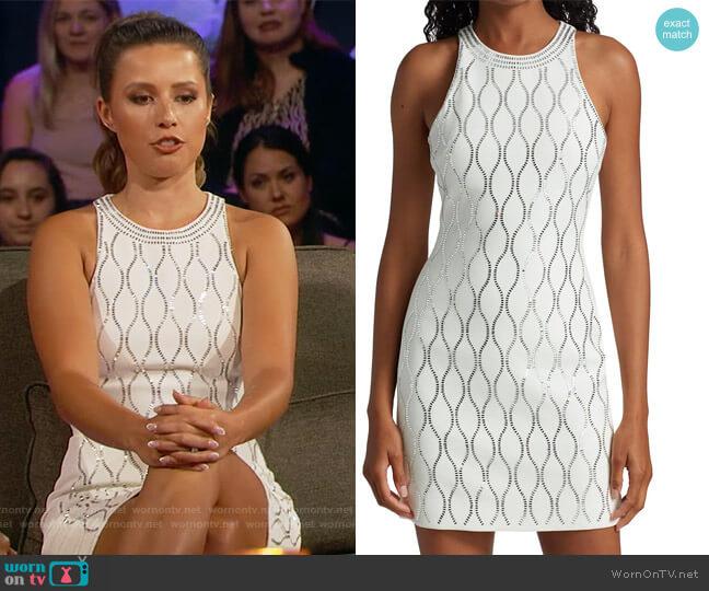 Tennis Net Crystal Embellished Mini Dress by David Koma worn by Katie Thurston  on The Bachelorette