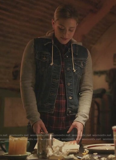 Cheryl's lace dotted blouse on Riverdale