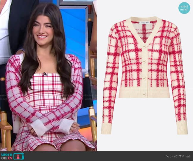 Buttoned Cardigan by Dior by Charli D'Amelio on Good Morning America