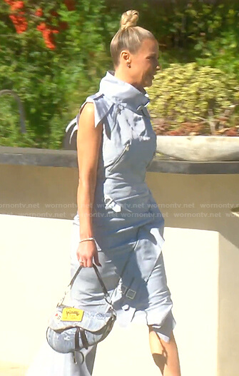 Dorit's light blue asymmetric dress on The Real Housewives of Beverly Hills