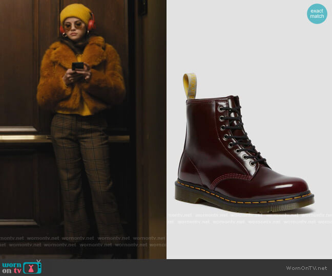 Vegan 1460 Lace up Boots by Dr Martens worn by Mabel Mora (Selena Gomez) on Only Murders in the Building
