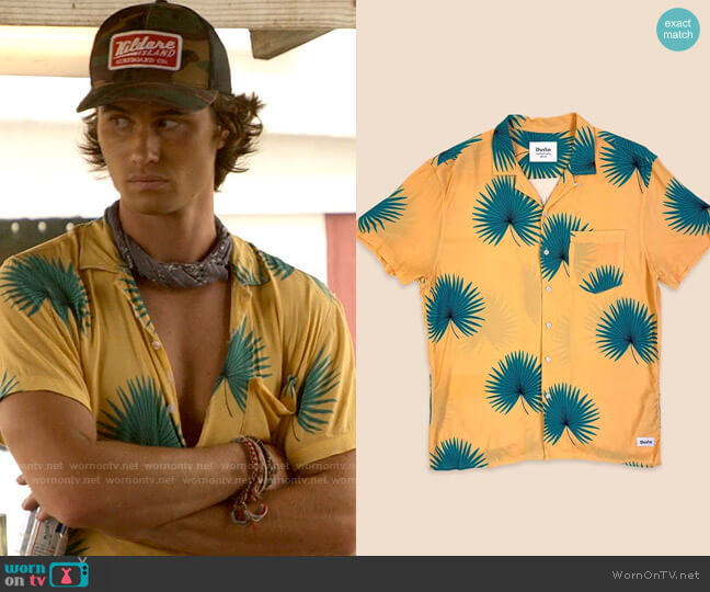 Duvin Poolside Shirt in Banana worn by John B (Chase Stokes) on Outer Banks