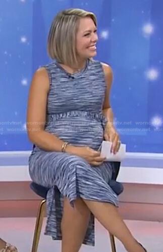 Dylan's blue spade dye maternity dress on Today
