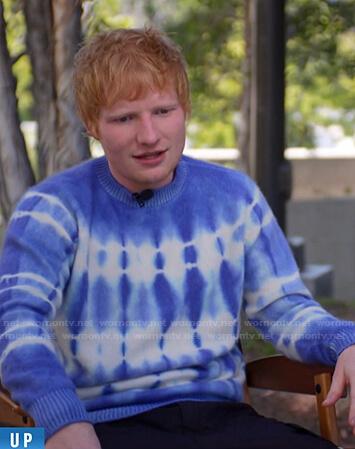 Ed Sheeran's blue tie dye sweater on Today