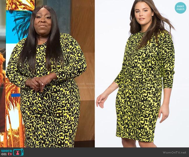 Dropped Waist Dolman Sleeve Dress by Eloquii worn by Loni Love  on E! News