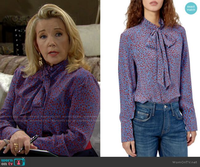 Equipment Olexa Blouse worn by Nikki Reed Newman (Melody Thomas-Scott) on The Young & the Restless
