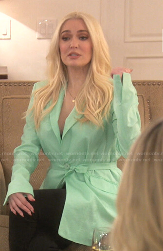 Sutton's yellow scalloped cutout dress on The Real Housewives of Beverly Hills