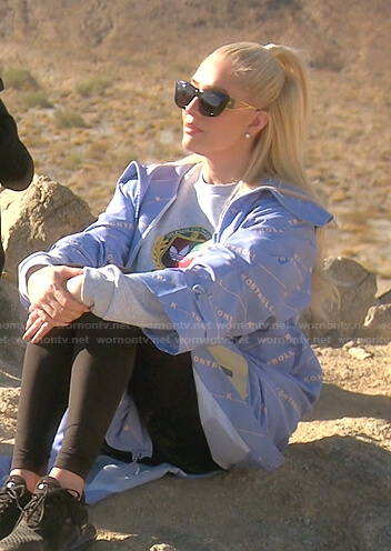 Erika's grey Adidas sweatshirt and blue jacket on The Real Housewives of Beverly Hills