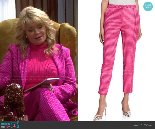 Houndstooth Slim-Leg Pants by Escada worn by Bonnie Lockhart (Judi Evans) on Days of our Lives