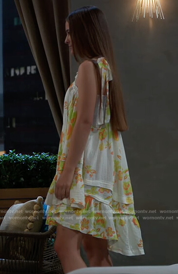 Esme's white floral tunic on General Hospital