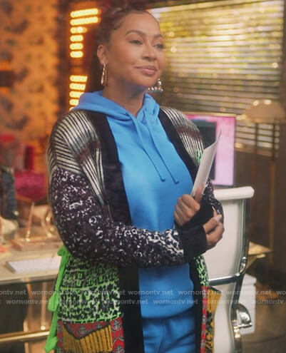 Esme Sharp's mixed kinit cardigan on Grown-ish