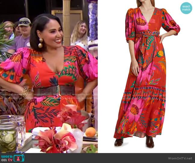 Floral Maxi Dress by Farm Rio worn by Alejandra Ramos on Today