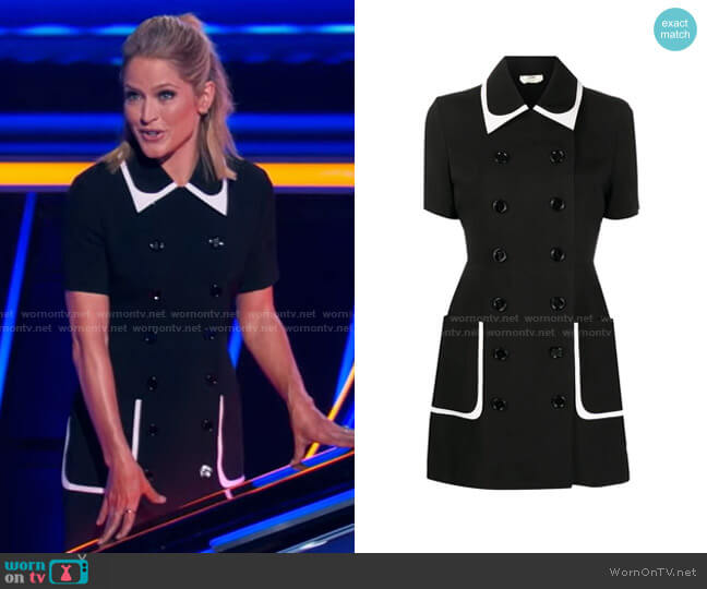 Double-Breasted Mini Dress by Fendi worn by Sara Haines  on The Chase