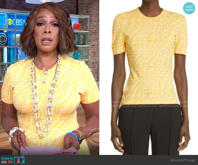 Fendi Fisheye T-shirt worn by Gayle King  on CBS Mornings