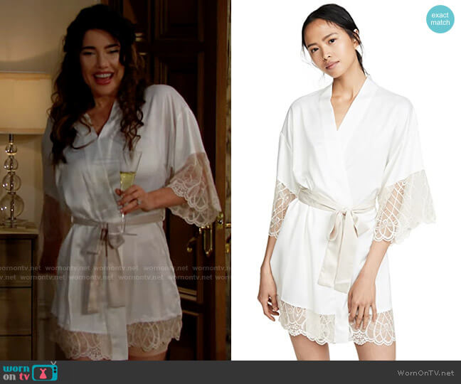 Flora Nikrooz Gabby Robe worn by Steffy Forrester (Jacqueline MacInnes Wood) on The Bold & the Beautiful